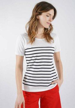 Armor lux - T-Shirt print - blanc/rich navy poisson clou