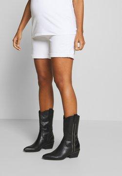 Esprit Maternity - BERMUDA BOYFRND - Jeansshort - white