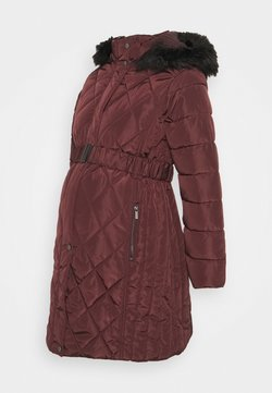 Dorothy Perkins Maternity - QUILT LONG LUXE BELTED COAT - Abrigo de invierno - red