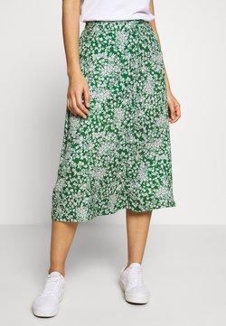 Pieces - PCANGILICA HW MIDI SKIRT - A-line skirt - verdant green/boho flowers