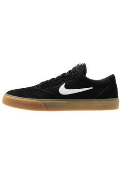 Nike SB - CHRON SLR UNISEX - Sneakersy niskie - black/white/light brown