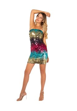 KRISP - RAINBOW SEQUIN BOOBTUBE - Cocktailkleid/festliches Kleid - multi