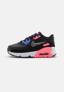 Nike Sportswear - AIR MAX 90 UNISEX - Trainers - black/metallic silver/sunset pulse