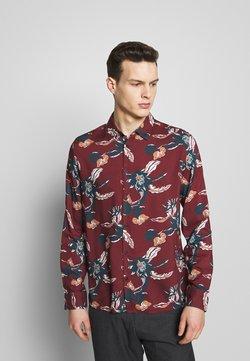 Burton Menswear London - FLORAL - Shirt - burgundy