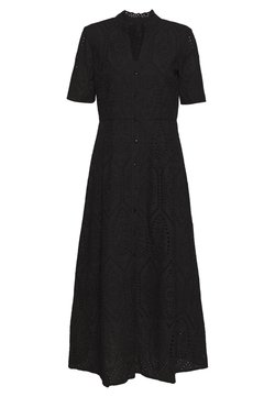 YAS - YASHOLI SS LONG  SHIRT DRESS S. - Maxi-jurk - black