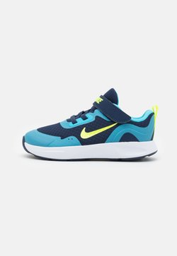 Nike Sportswear - WEARALLDAY UNISEX - Lauflernschuh - midnight navy/volt/baltic blue/white