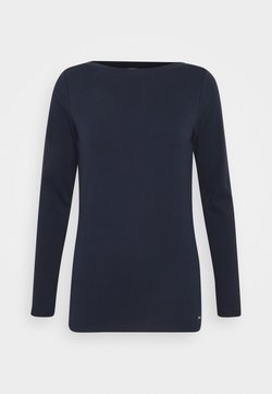 TOM TAILOR DENIM - BOAT NECK BASIC LONGSLEEVE - Bluzka z długim rękawem - real navy blue