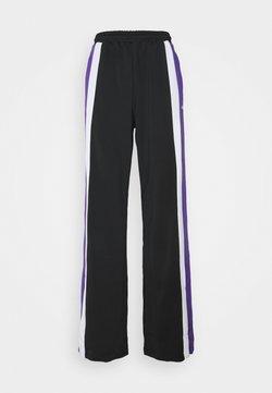 Fila Tall - BECCA TRACK PANTS OVERLENGTH - Jogginghose - black/ultra violet/bright white