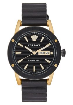 Versace Watches - THEROS AUTOMATIC - Montre - black/gold-coloured