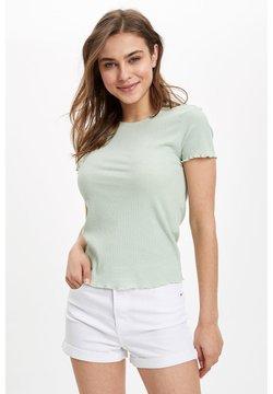 DeFacto - T-shirt basic - turquoise