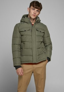 Jack & Jones - JJREGAN PUFFER - Winterjacke - forest night