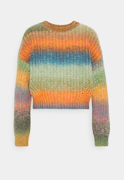 BDG Urban Outfitters - BALLOON SLEEVE JUMPER - Strikkegenser - space dye multi