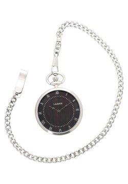 LAIMER - LAIMER QUARZ HOLZUHR - ANALOGE TASCHENUHR SANDELHOLZ - Uhr - silver