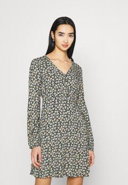 Vero Moda - VMMILDA SHORT DRESS - Vestito estivo - black/jadeite milda