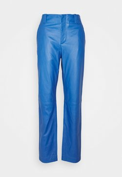 Alberta Ferretti - Leather trousers - blue