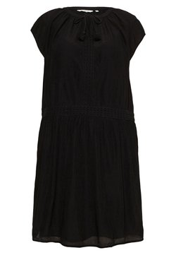 MY TRUE ME TOM TAILOR - DRESS WITH DECO TAPES - Freizeitkleid - deep black
