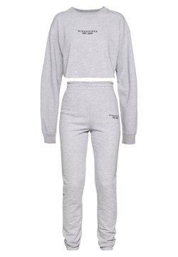 Missguided Tall - CROP AND JOGGER SET - Sweatshirt - grey marl