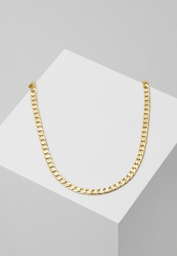 Orelia - FLAT LINK CURB CHAIN SINGLE NECKLACE - Ketting - gold-coloured