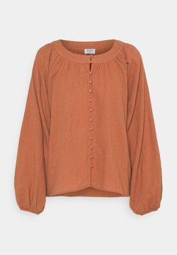 Cotton On - SMOCK BLOUSE - Blouse - warm bronze