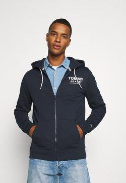Tommy Jeans - ESSENTIAL GRAPHIC ZIPTHROUGH - veste en sweat zippée - twilight navy