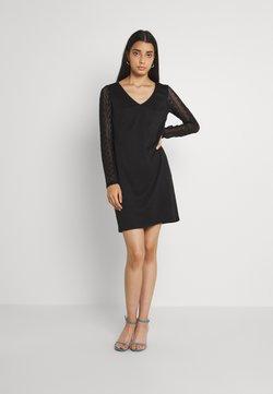 Vila - VIJENNIE V NECK MIXED DRESS - Trikoomekko - black