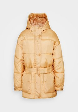 Missguided Tall - SELF BELTED PUFFER - Winterjacke - sand