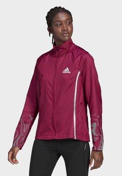 adidas Performance - GLAM ON JACKET - Chaqueta de entrenamiento - burgundy