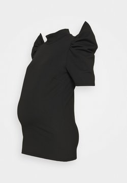 Pieces Maternity - PCMRYLEE - Camiseta estampada - black