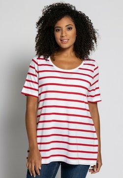 Ulla Popken - T-Shirt print - white/red