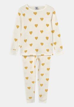 Petit Bateau - TRIPLETTE - Pyjama - marshmallow/ocre