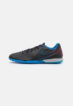 Nike Performance - TIEMPO LEGEND 8 PRO TF - Hiekkakengät - black/siren red/light photo blue
