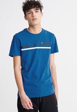 Superdry - CORE LOGO SPORT STRIPE TEE - T-Shirt print - true blue