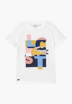 Lacoste - TEE - T-Shirt print - blanc/multicolour