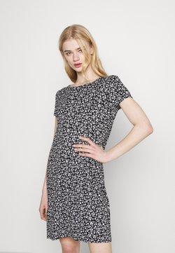 ONLY - ONLBERA BACK DRESS - Jerseykleid - black/white