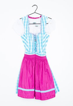Country Line - Dirndl - turquoise pink white