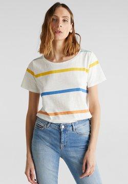 Esprit - CORE OCS AOP T - T-Shirt print - off white