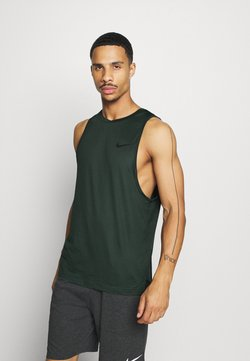 Nike Performance - TANK DRY - Sports shirt - sequoia/galactic jade/heather/black