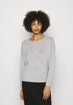 Tommy Hilfiger - OPEN GRAPHIC - Sweter - light heather grey