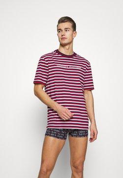 Tommy Hilfiger - TEE LOGO STRIPE - Nachtwäsche Shirt - red