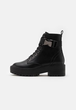 ONLY SHOES - ONLBRANDY LACE UP BOOT - Plateaustiefelette - black