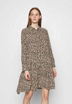 JDY - JDYPIPER DRESS - Vestido camisero - silver mink/black leo