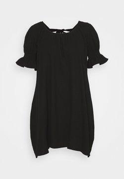 Missguided Plus - PLUS FRILL CUFF SWING DRESS - Vapaa-ajan mekko - black