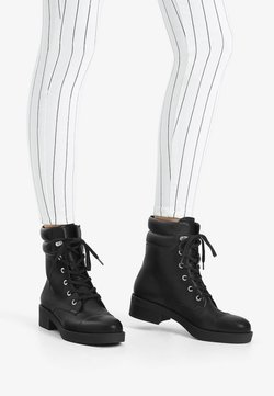 Bershka - Bottines à plateau - black