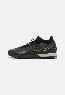 Nike Performance - PHANTOM GT ACADEMY DF TF - Astro turf trainers - black/cyber/light photo blue