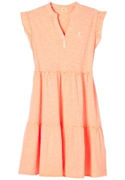 s.Oliver - Jerseykleid - neon peach