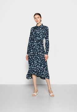 Kaffe - MIANA SHIRT DRESS - Blusenkleid - blue