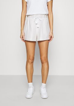 Abercrombie & Fitch - TASSEL SHORTS - Shorts - white