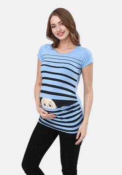 M.M.C. - GUCK GUCK - T-Shirt print - babyblau