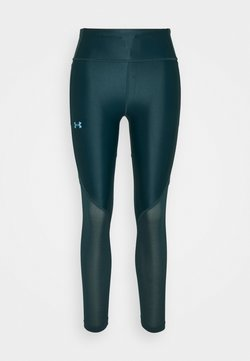 Under Armour - ISO CHILL RUN ANKLE - Tights - dark cyan