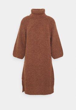 YAS - YASBRAVO ROLL NECK DRESS - Jumper dress - burlwood